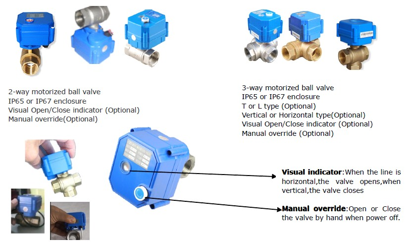 Mini Motorized Amp Electric Ball Valve For Automatic Water