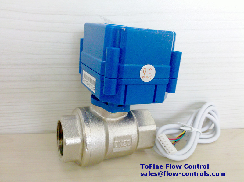 tofine kld20s brass motor driven ball valve