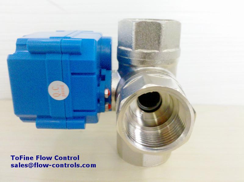 Tofine kld20s horizontal 3 way ball valve for Motorized flow control valve