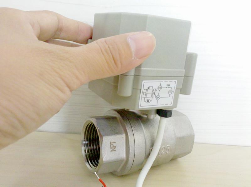 Fail safe spring return motorized ball valve for Motorized flow control valve