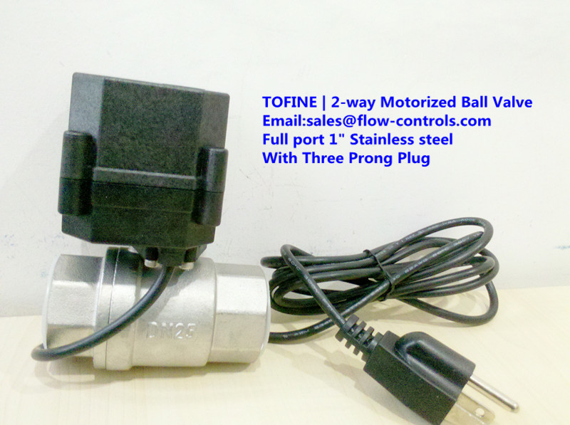 2 way stainless steel motorized ball valve with three for Motorized flow control valve