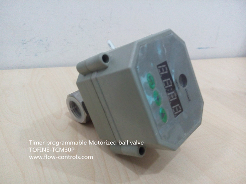 Motorized ball valve with timer control for Motorized flow control valve