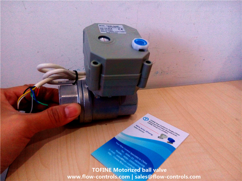 Full port 1 inch Stainless automatic shut off ball valves
