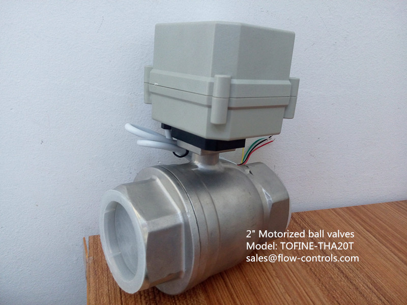 2 inch 50mm electric actuated ball valves in china for Motorized flow control valve