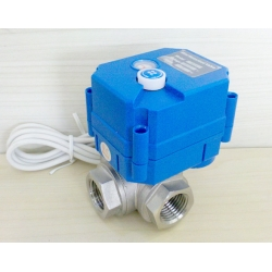 3 way Electric ball valve with manual override