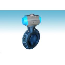Pneumatic UPVC butterfly valve