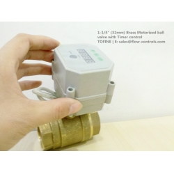 "1-1/4"" Brass Motorized ball valve with Timer control"