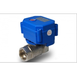 Motorized ball valve with auto return function(normally closed)