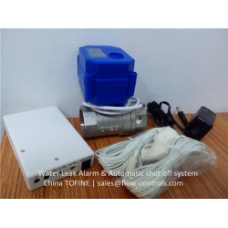 Water leak alarm system with Stainless steel United States NPT valves