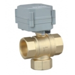 3-way T port vertical type motorized ball valve