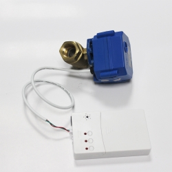 Battery driven Water leak alarm & automatic shut off system