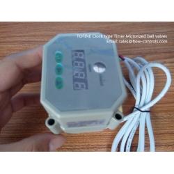 Clock type Timer control Motorized ball valves