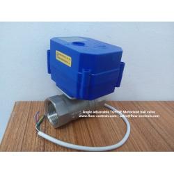 Angle adjustable Motorized ball valves