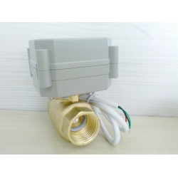2 way Motorized ball valve for Automatic treatment & Detection alarm&shut off system