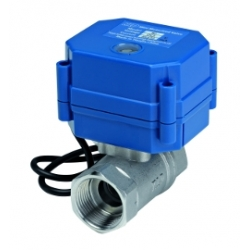 Automatic shut off valve for water leak alarm detection