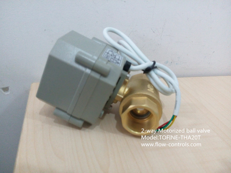 3 4 brass 220vac cr4 01 without manual override for Motorized flow control valve