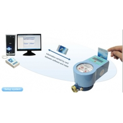 Prepaid intelligent water meter & automatic shut off system
