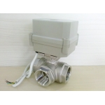 3 way Auto return Stainless steel motorized ball valve
