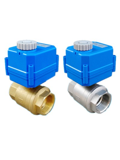 motorized flow control valve miniature motorized ball