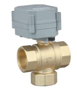 3 way t port motorized ball valve for Motorized flow control valve