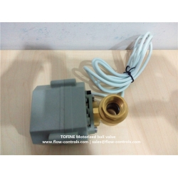 Normally open 2-wire electric actuated ball valves