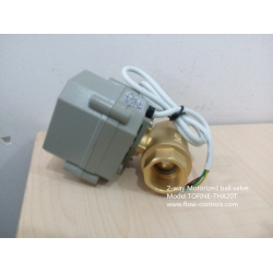 "3/4"" 220VAC Brass 4-wire electric ball valves for automatic flow control"