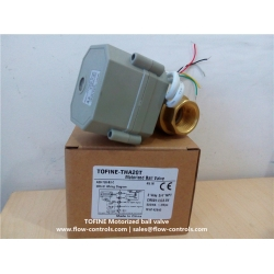 Low current drawn battery driven electric & motorized ball valves in China