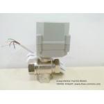 3 way mini Nickle plated Brass T port Motorized ball valve at economic price