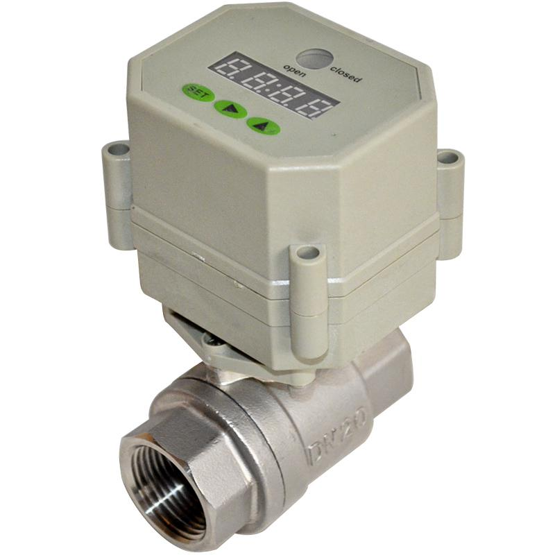 Timer controlled motorized ball valve for Motorized flow control valve